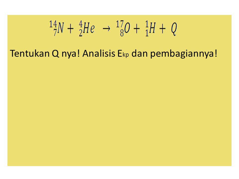 Tentukan Q nya! Analisis E kp dan pembagiannya!