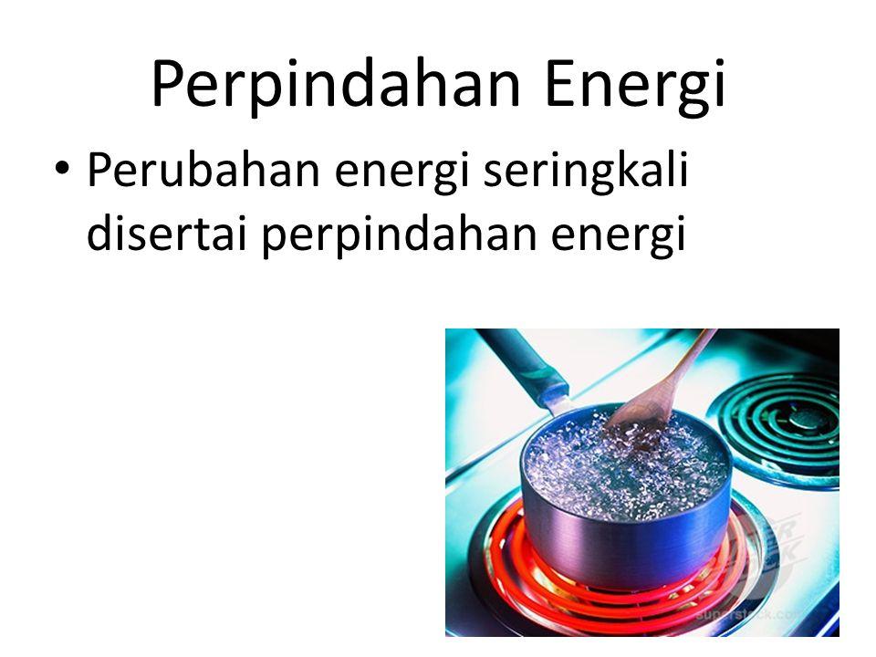 Perpindahan Energi Perubahan energi seringkali disertai perpindahan energi 12