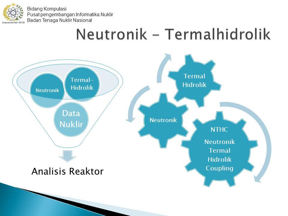 NTHC Neutronik Termal Hidrolik Coupling Neutronik Termal Hidrolik Bidang Komputasi Pusat pengembangan Informatika Nuklir Badan Tenaga Nuklir Nasional