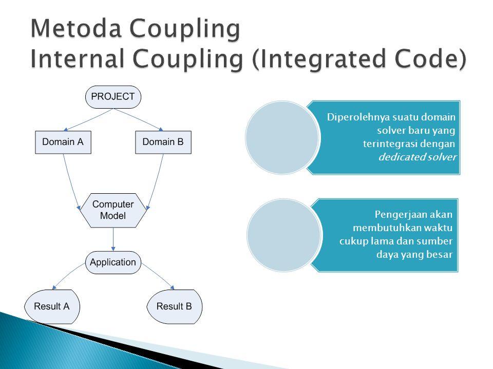  Coupling Code dapat digunakan untuk melakukan analisis multifisik secara simultan dengan metode internal atau eksternal coupling.