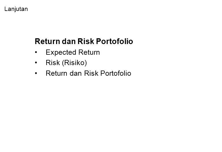 Pemilihan Portofolio Optimal Portofolio optimal berdasarkan preferensi investor.