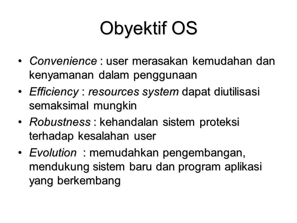 Obyektif OS Convenience : user merasakan kemudahan dan kenyamanan dalam penggunaanConvenience : user merasakan kemudahan dan kenyamanan dalam pengguna