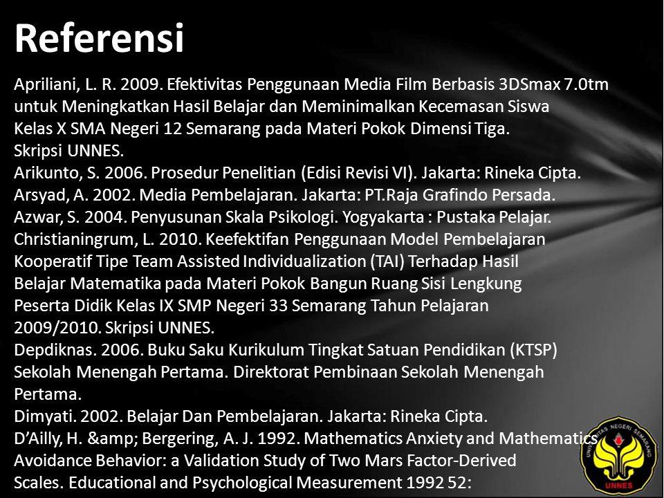 Referensi Apriliani, L. R. 2009.