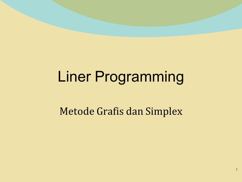 Liner Programming Metode Grafis dan Simplex 1