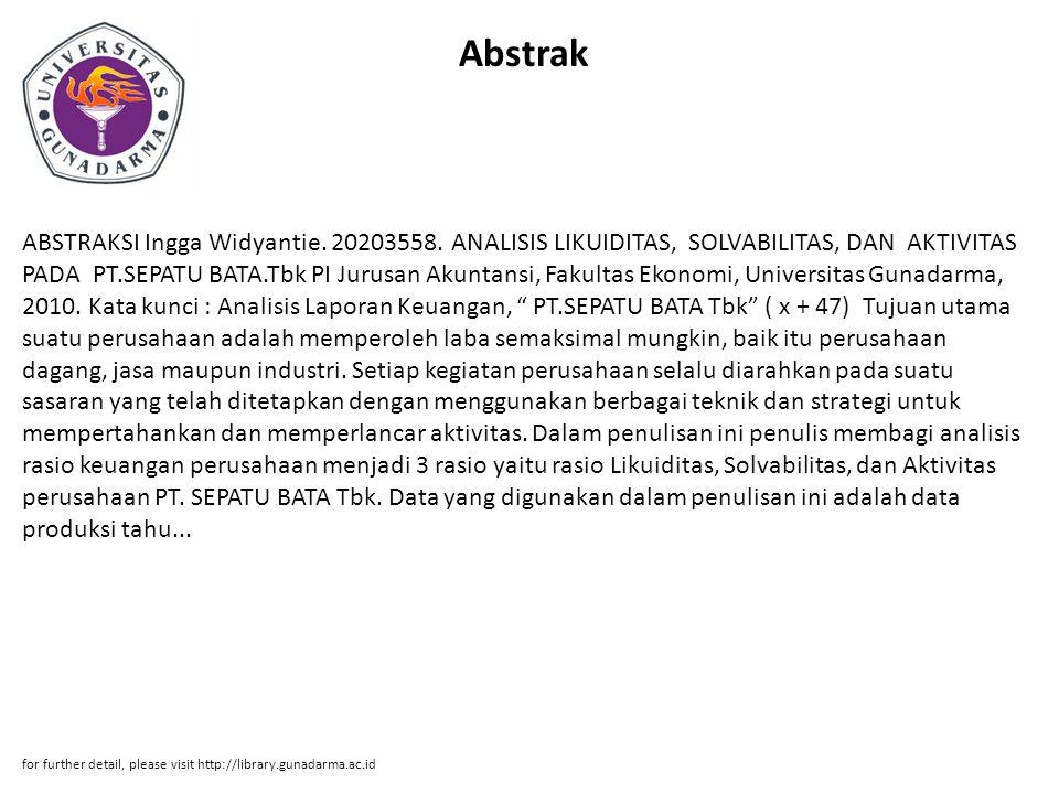 Abstrak ABSTRAKSI Ingga Widyantie.20203558.