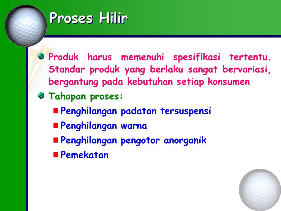 Proses Hilir Produk harus memenuhi spesifikasi tertentu.