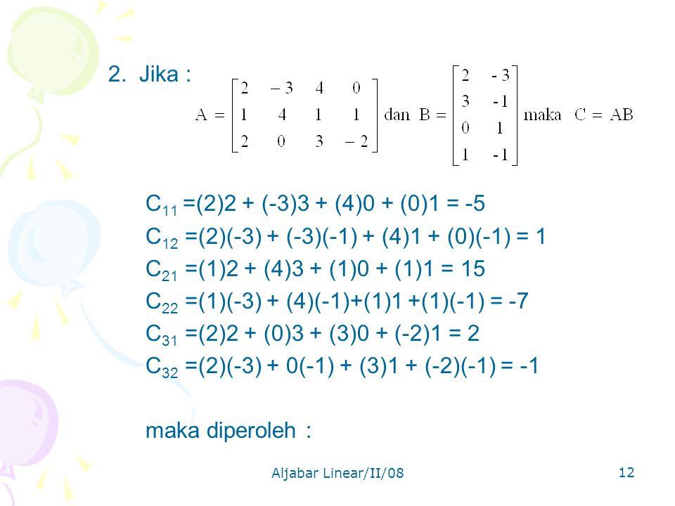 Aljabar Linear/II/08 12 2.