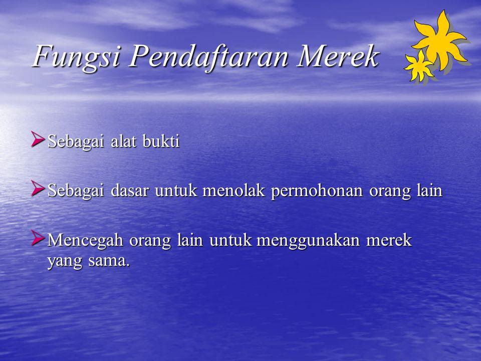 Syarat Pengajuan Permohonan Pendaftaran Merek (1) Yang diajukan perorangan :  Mengisi formulir rangkap 4 dalam bahasa Indonesia dan diketik rapi.