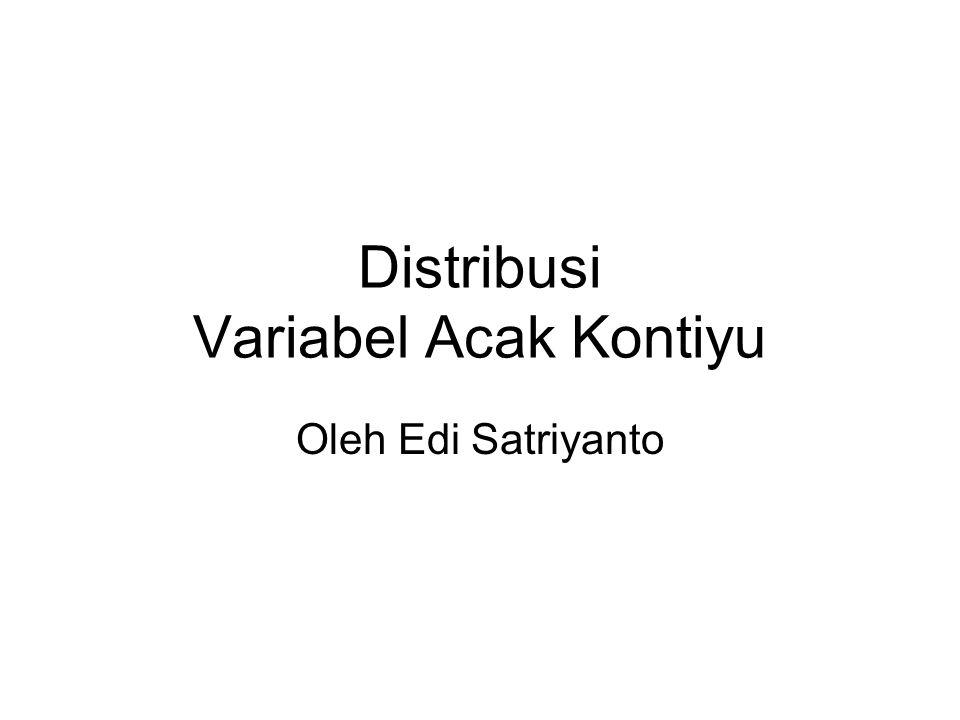 Distribusi Variabel Acak Kontiyu Oleh Edi Satriyanto