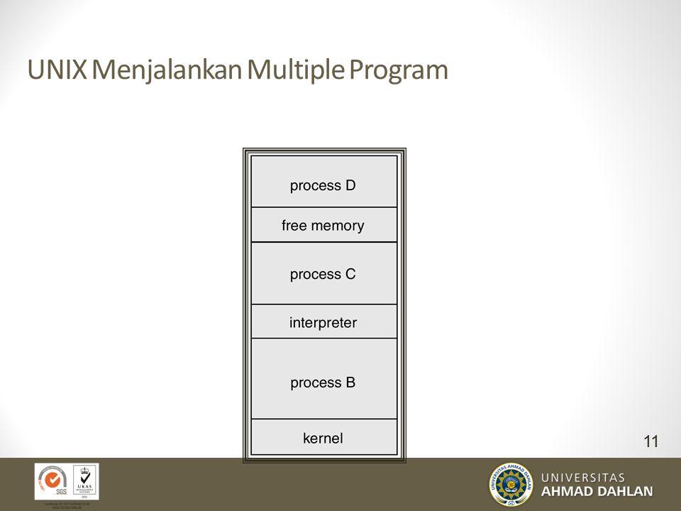 UNIX Menjalankan Multiple Program 11
