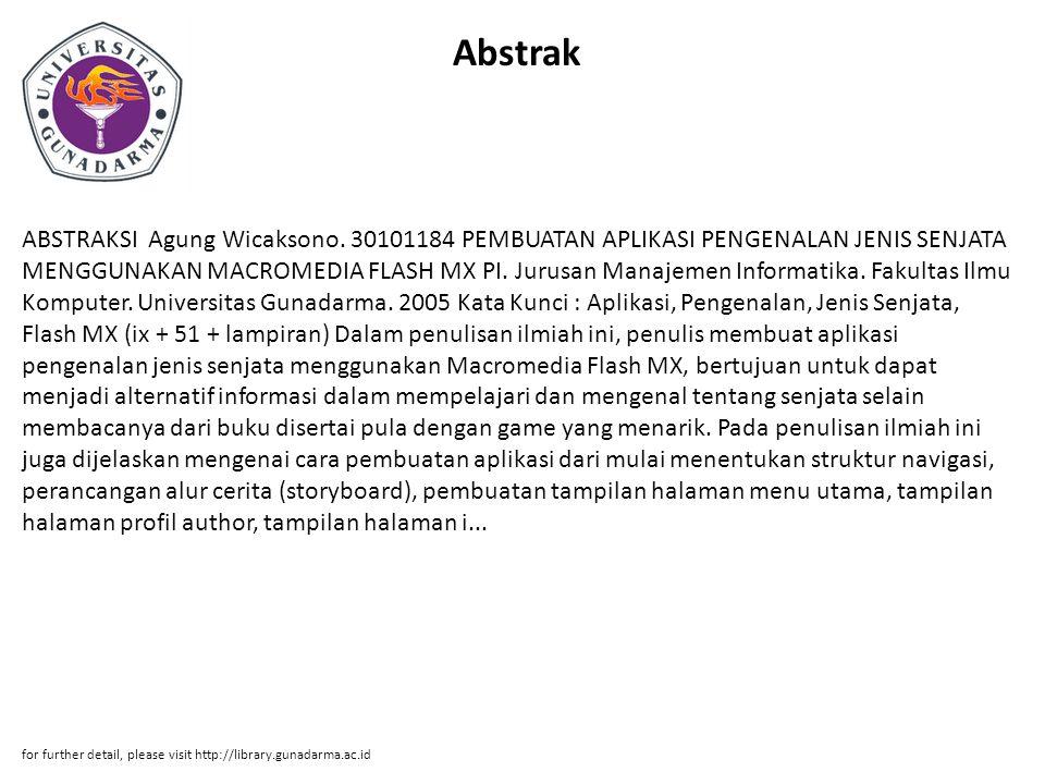 Abstrak ABSTRAKSI Agung Wicaksono.