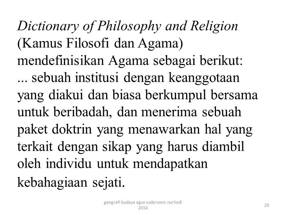 Agama biasanya memiliki suatu prinsip, seperti 10 Firman dalam agama Kristen atau 5 rukun Islam dalam agama Islam.