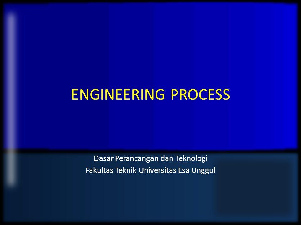 ENGINEERING PROCESS Dasar Perancangan dan Teknologi Fakultas Teknik Universitas Esa Unggul