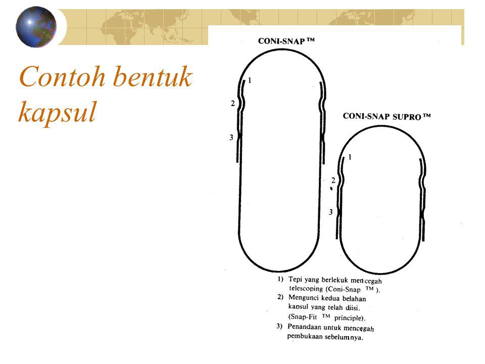 Contoh bentuk kapsul