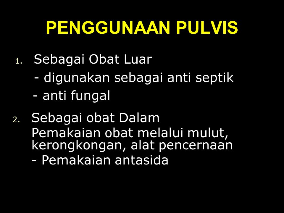 PENGGUNAAN PULVIS 1.