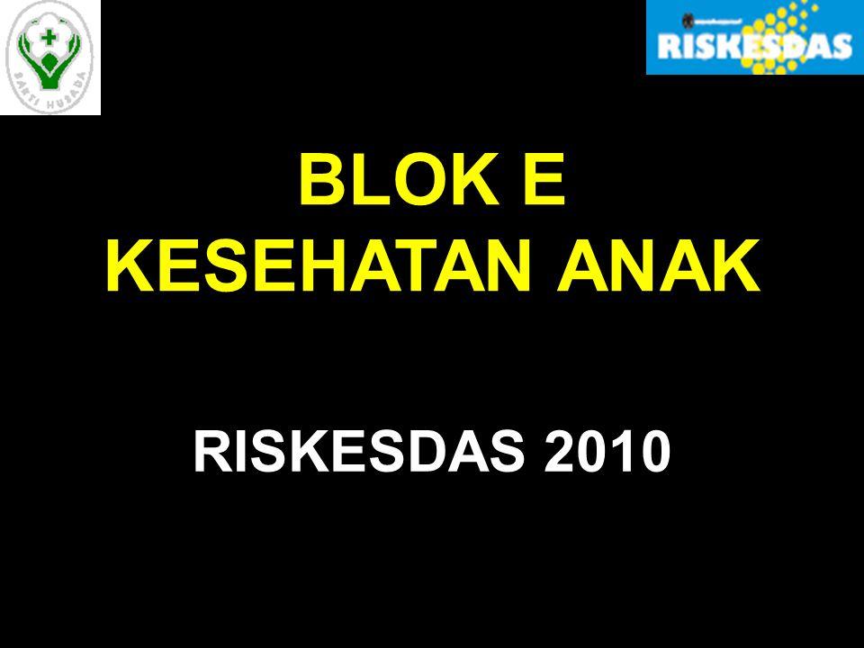 SUB BLOK KESEHATAN ANAK Blok Kesehatan Anak terdiri dari 2 sub blok, yaitu : Ea.