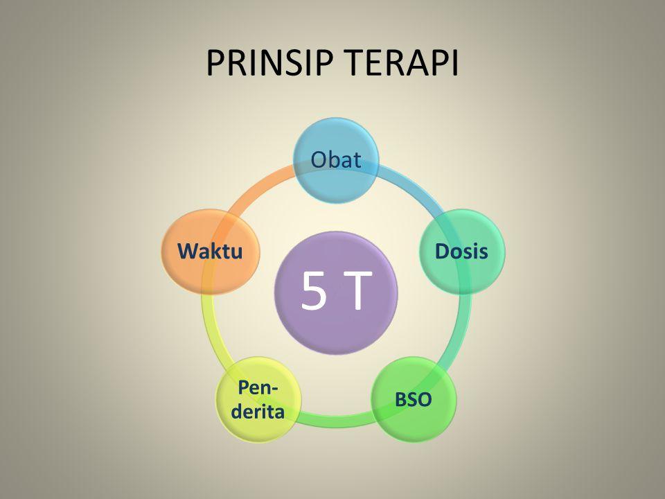 PRINSIP TERAPI 5 T Obat Dosis BSO Pen- derita Waktu