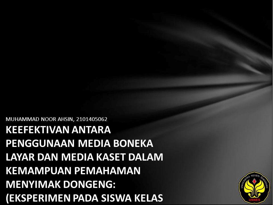 Identitas Mahasiswa - NAMA : MUHAMMAD NOOR AHSIN - NIM : 2101405062 - PRODI : Pendidikan Bahasa, Sastra Indonesia, dan Daerah (Pendidikan Bahasa dan Sastra Indonesia) - JURUSAN : Bahasa & Sastra Indonesia - FAKULTAS : Bahasa dan Seni - EMAIL : ahsinema pada domain gmail.com - PEMBIMBING 1 : Tommi Yuniawan,S.Pd.,M.Hum.