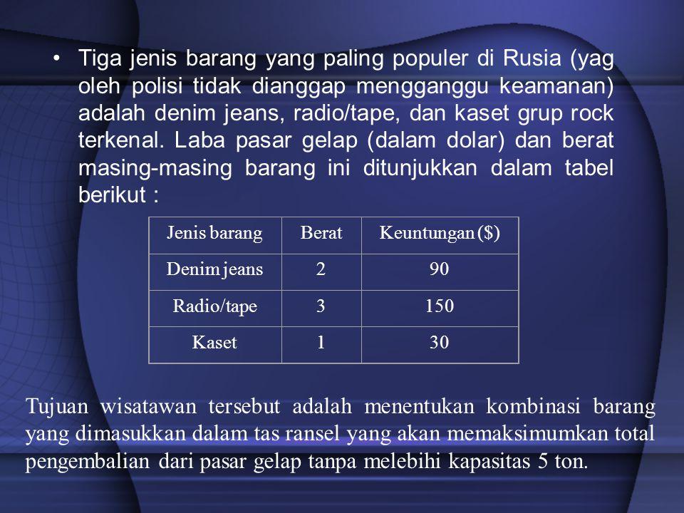 Tiga jenis barang yang paling populer di Rusia (yag oleh polisi tidak dianggap mengganggu keamanan) adalah denim jeans, radio/tape, dan kaset grup roc