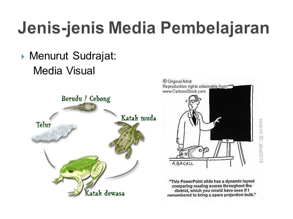  Menurut Sudrajat: Media Visual