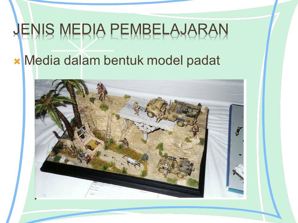  Media dalam bentuk model padat