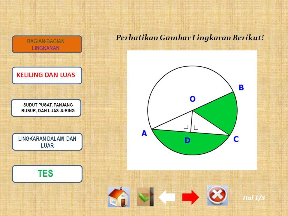 Titik Pusat Titik pusat lingkaran adalah titik yang terletak di tengah-tengah lingkaran.