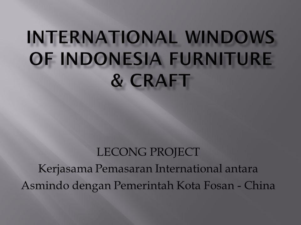 Dari sekian banyak obyektifitas dari organisasi ASMINDO maka salah satunya adalah membantu pemerintah dalam masalah pemasaran dari hasil industri furniture dan kerajinan di Indonesia terlebih dikhususkan bagi para anggota yang tergabung dibawah ASMINDO.