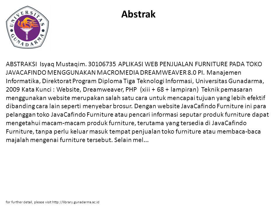 Abstrak ABSTRAKSI Isyaq Mustaqim.