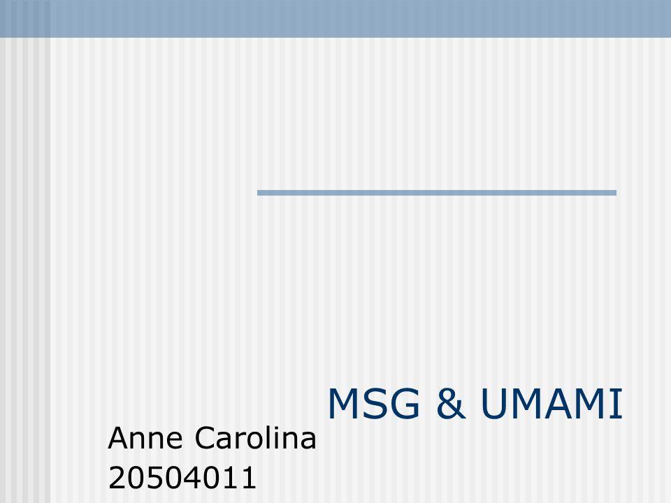 MSG & UMAMI Anne Carolina 20504011