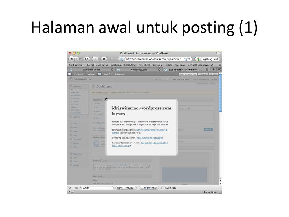 Halaman awal untuk posting (1)