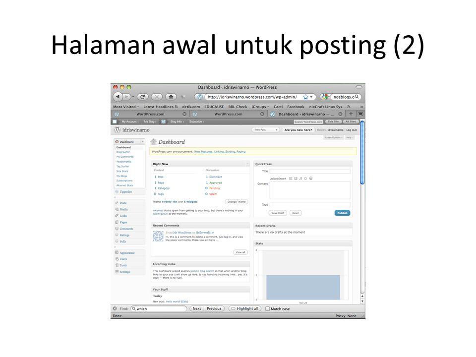 Halaman awal untuk posting (2)