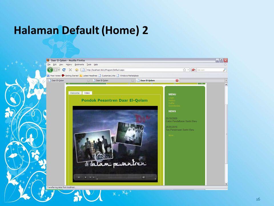 Halaman Default (Home) 1 15