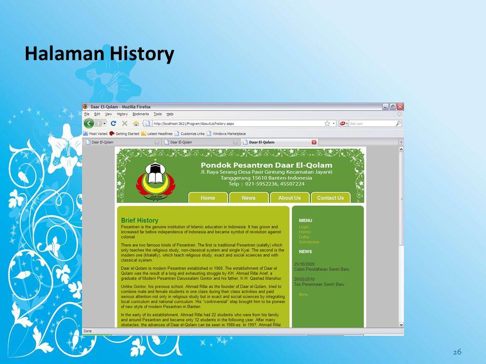Halaman Features and Facilities 25