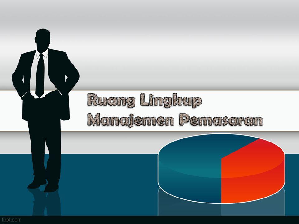 Definisi pemasaran : suatu kegiatan penyaluran barang atau jasa dari tangan produsen ke tangan konsumen (H.