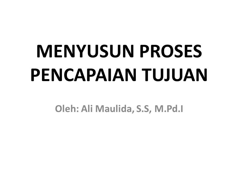 MENYUSUN PROSES PENCAPAIAN TUJUAN Oleh: Ali Maulida, S.S, M.Pd.I