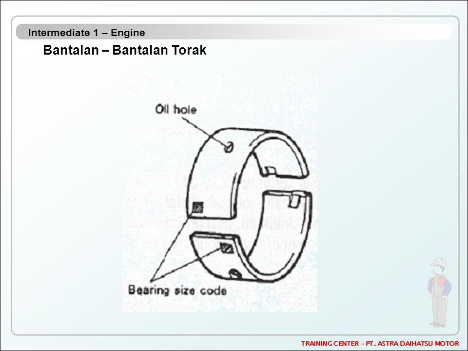 Intermediate 1 – Engine Bantalan – Bantalan Torak