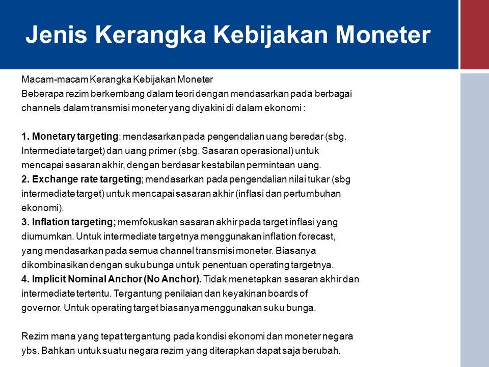 Mekanisme Pengendalian Moneter Melalui OPT Operasi Pasar Terbuka dilakukan Bank Indonesia dengan tiga cara, yaitu : 1.Melalui lelang SBI 2.Melalui penggunaan FASBI/FTK di pasar uang rupiah, dan 3.Melalui sterilisasi/intervensi di pasar valuta asing 2.
