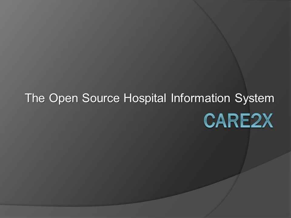 Sistem Informasi Rumah Sakit Terbuka  Care2X adalah Sistem Informasi Rumah Sakit terintegrasi.