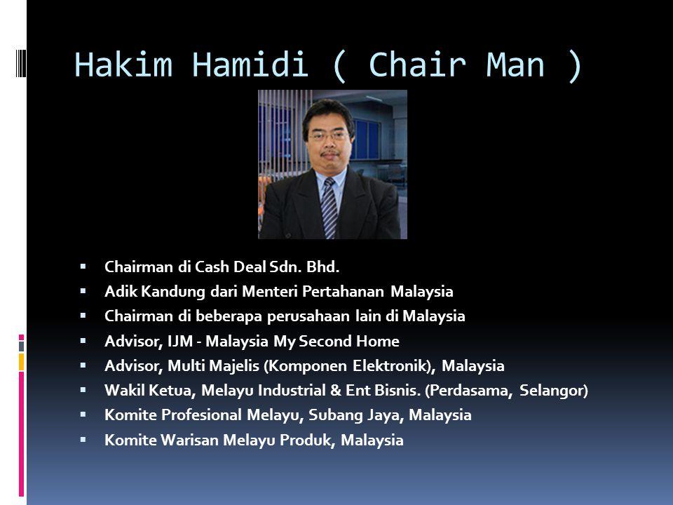 Mr. Richard Liem ( COO )  Coo di Cash Deal Sdn. Bhd.  Pakar NLP  Pakar Brain Gym dari AS  Pakar Hypnotherapist  System Planner