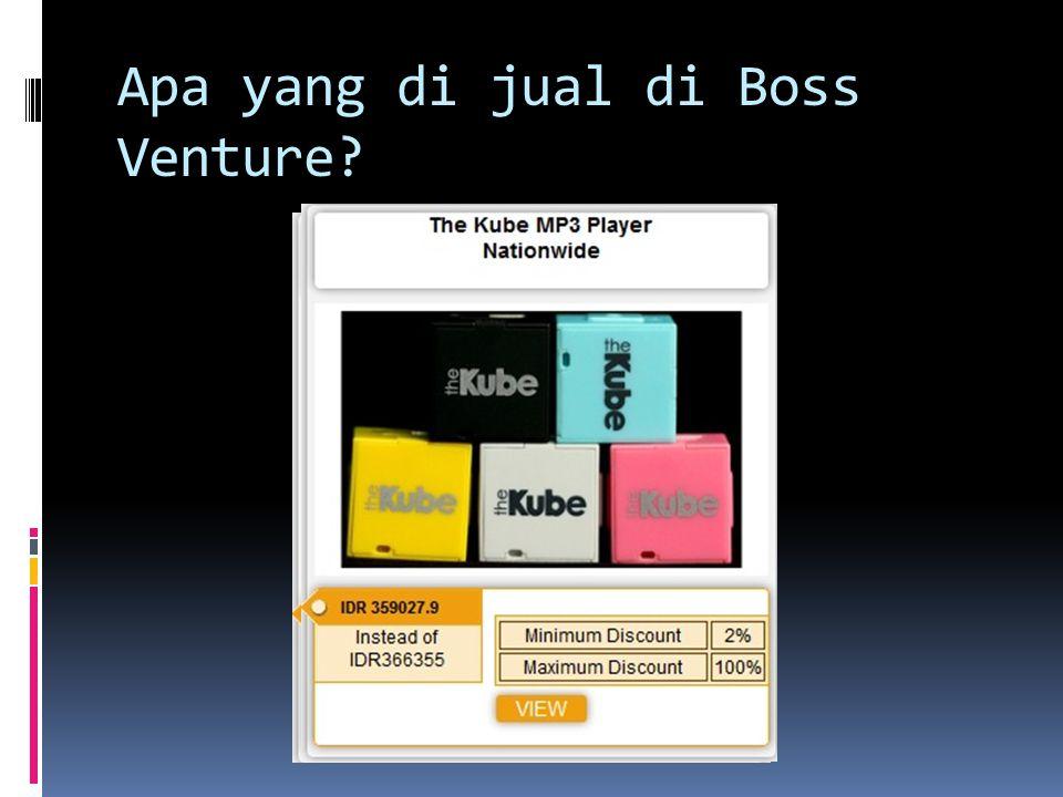Apa yang di jual di Boss Venture?