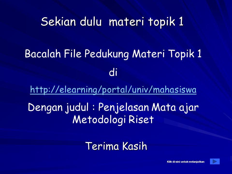 Daftar pustaka A. Wajib: –Soekidjo Notoatmojo, Metodologi Penelitian Kesehatan, Rineke Cipta, 2002 –Narbuki, Chlid,dkk, Metodologi Penelitian, Jakarta