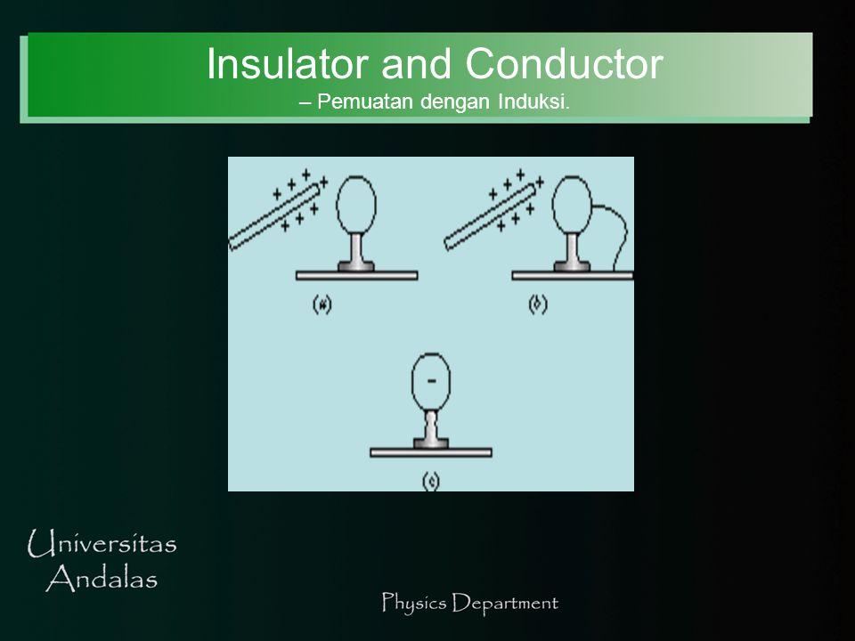 Insulators dan Conductors – Earth/Ground.