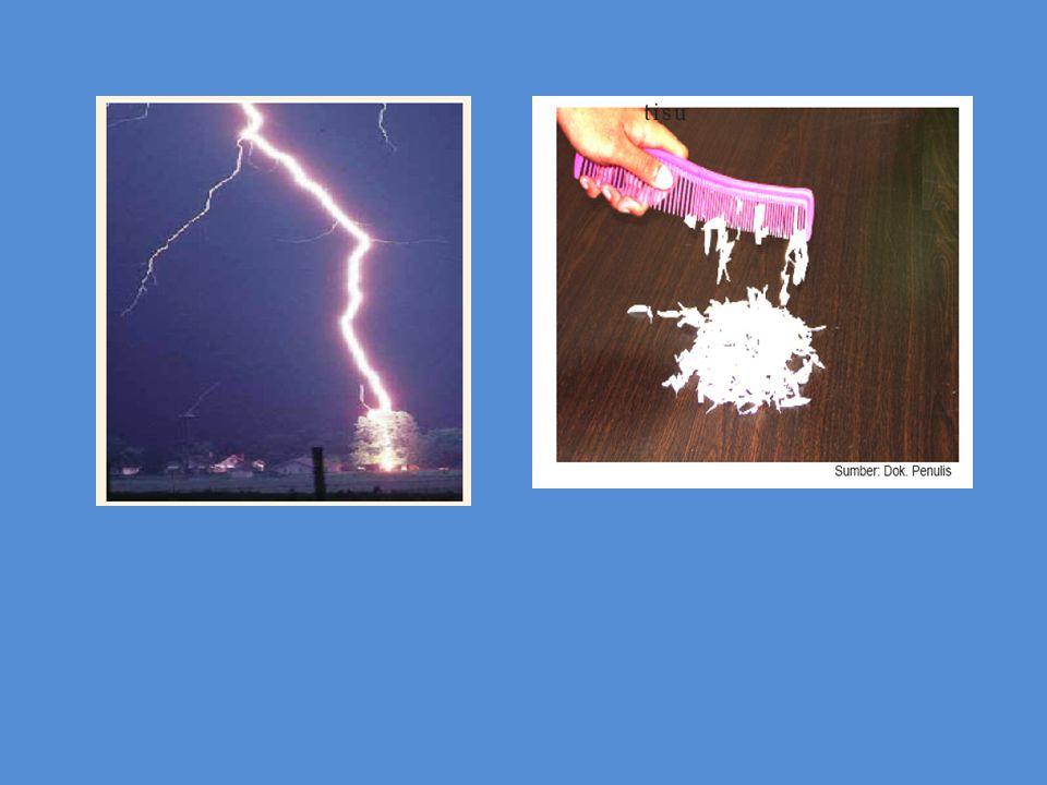 Contoh mendapatkan listrik statis dengan cara menggosok.
