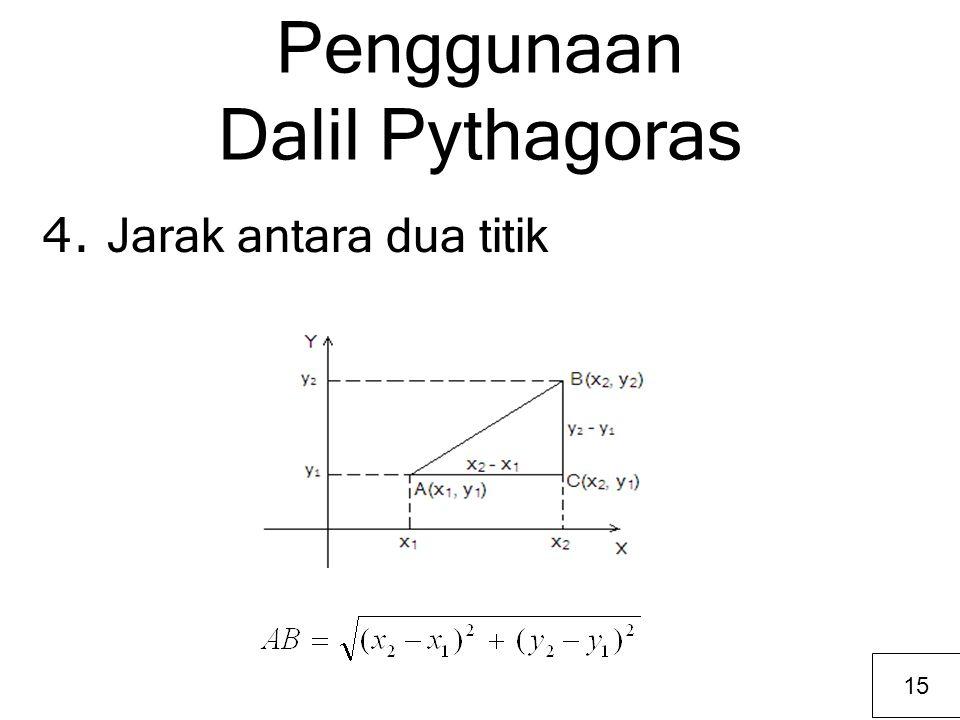 Penggunaan Dalil Pythagoras 4. Jarak antara dua titik 15