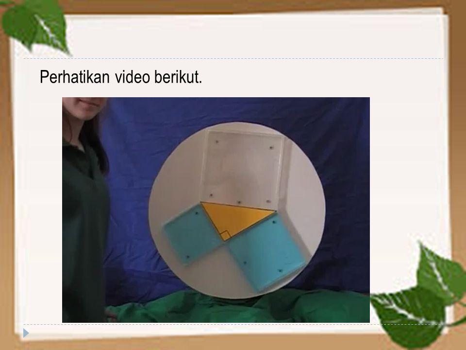 Perhatikan video berikut.