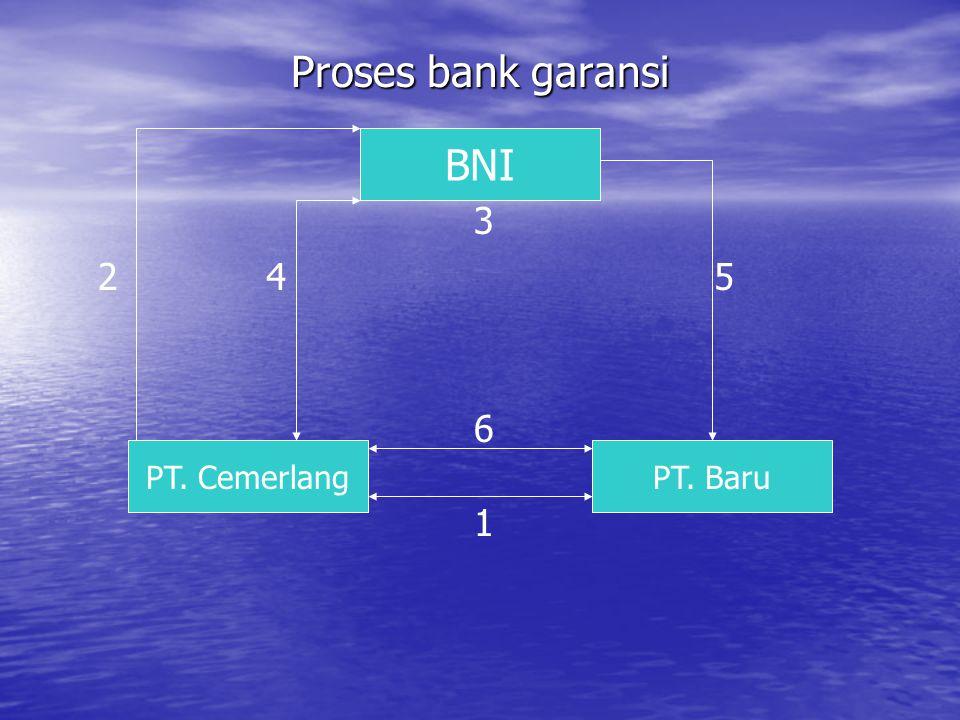 Proses bank garansi BNI PT. BaruPT. Cemerlang 1 6 5 3 42