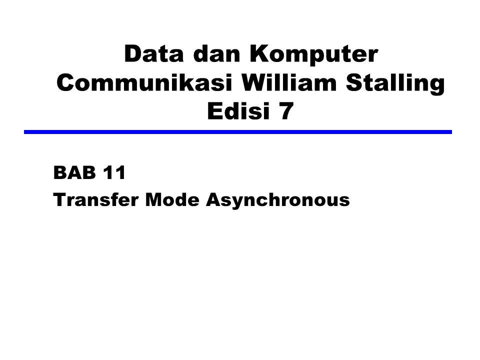 Data dan Komputer Communikasi William Stalling Edisi 7 BAB 11 Transfer Mode Asynchronous