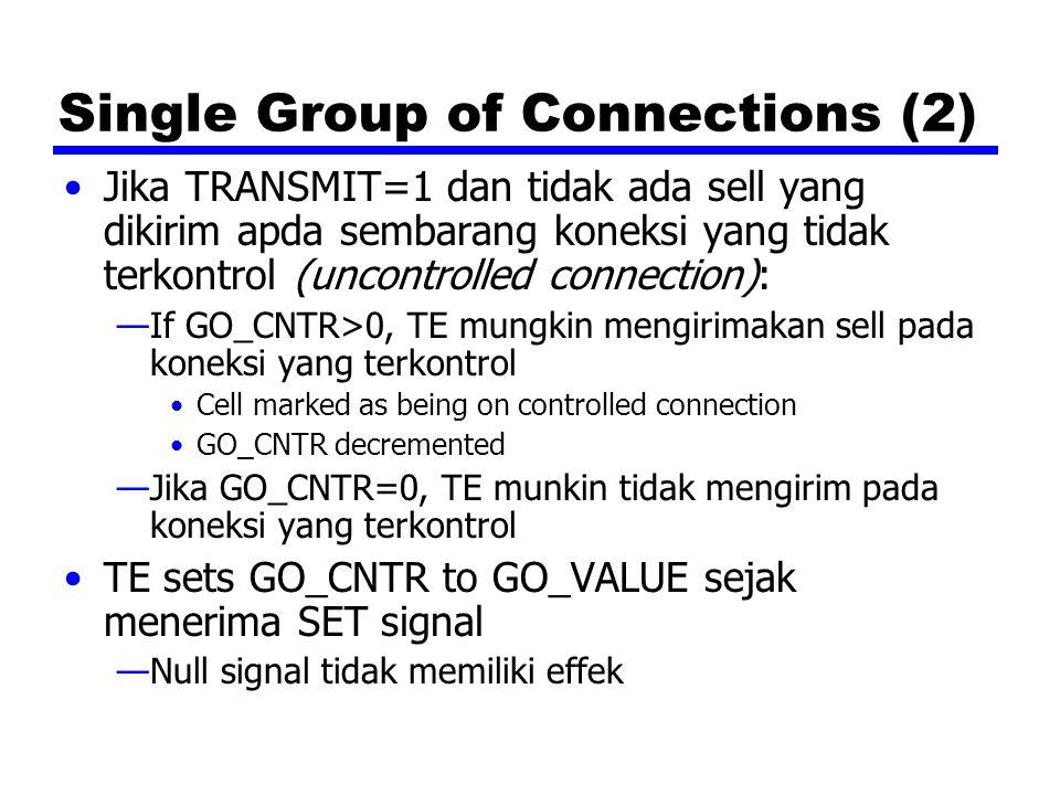 Single Group of Connections (2) Jika TRANSMIT=1 dan tidak ada sell yang dikirim apda sembarang koneksi yang tidak terkontrol (uncontrolled connection)