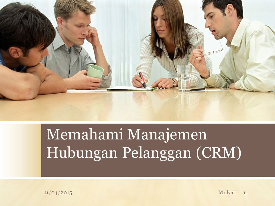 Tipe / variasi CRM  Operasional CRM  Sales Force Automation (SFA)  Analytical CRM  Sales Intelligence CRM  Campaign Management  Collaborative CRM  Geographic CRM 11/04/201532Mulyati