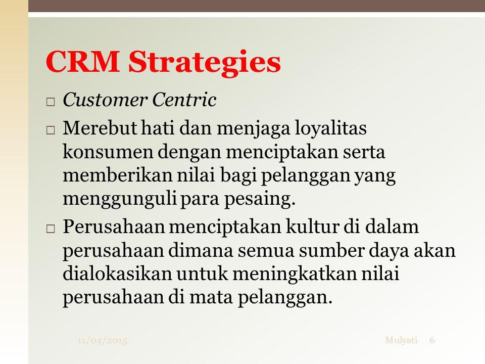 Tipe / variasi CRM  Sales Intelligence CRM  Sales Intelligence CRM serupa dengan Analytical CRM, tetapi lebih diarahkan sebagai alat penjualan langsung.